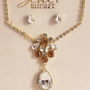 Badgley Mischka Statement Necklace Set